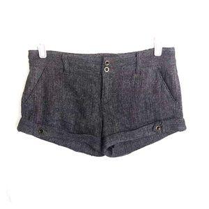 Free People Gray Tweed Cuffed Shorts Sz 8